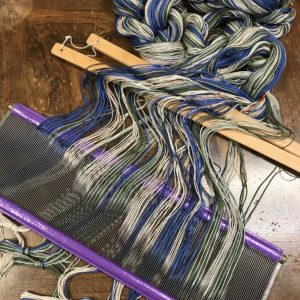 Sleying the reed