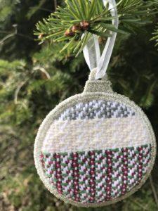 White Woven Ornament