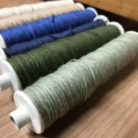 Blue green bobbins