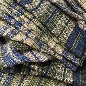 Woven Blue Green Fabric