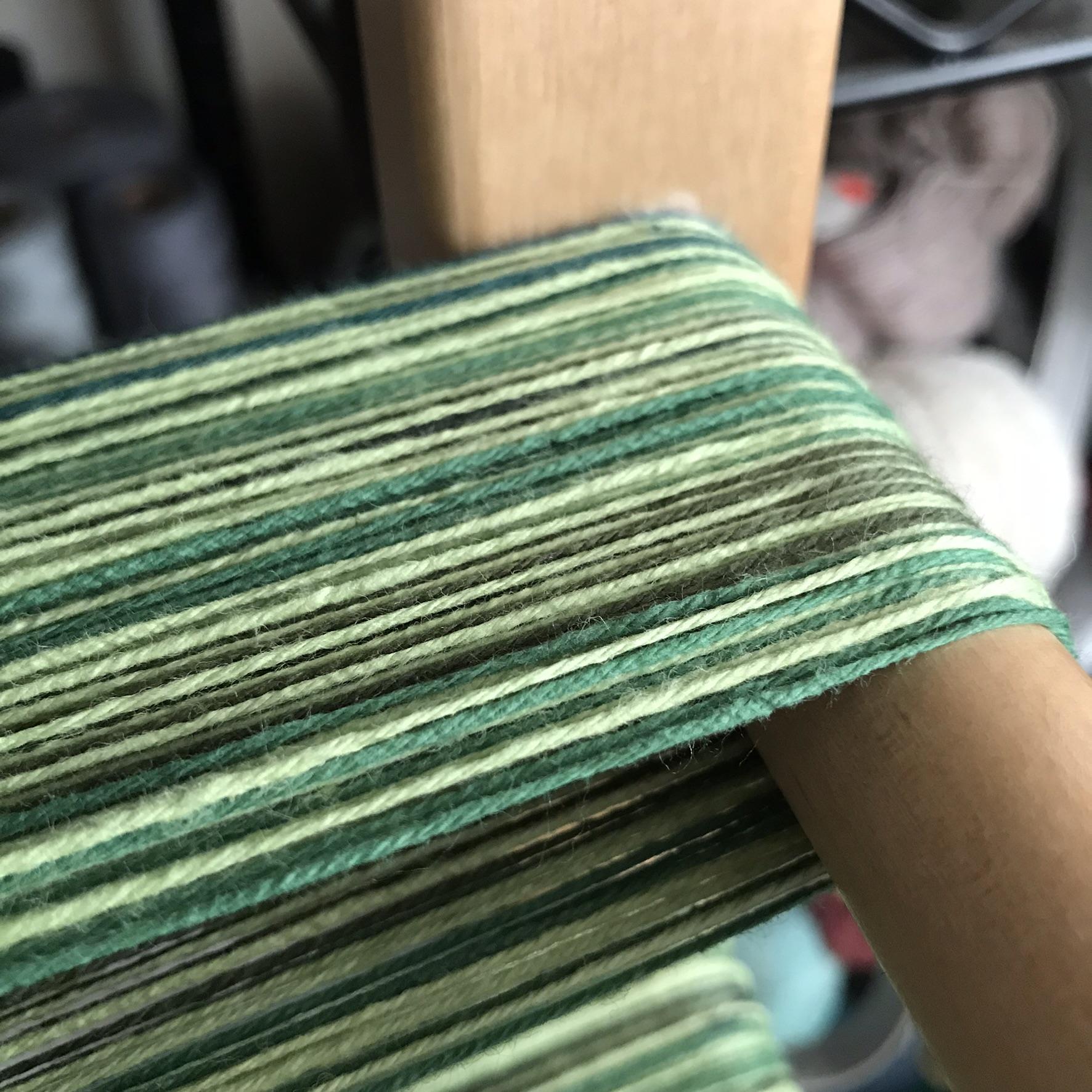 Green Warp on Warping Board