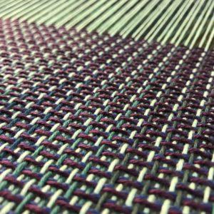 Handwoven Green Fabric - Pattern