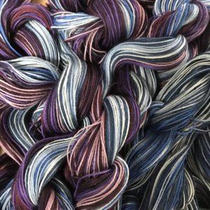 Blue/purple warp yarns
