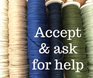 Accept and ask for help