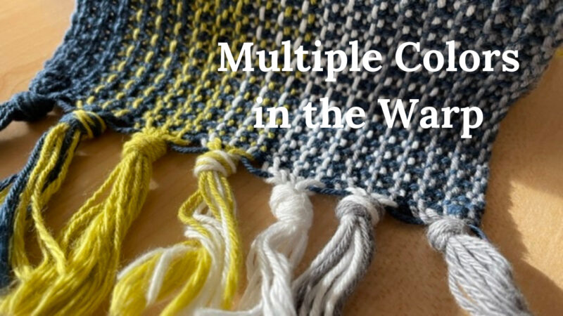 multiple colors in the warp